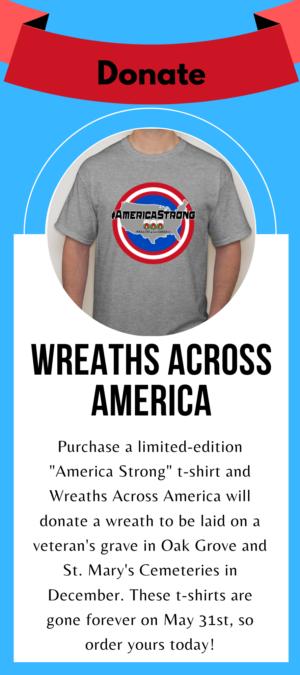 Wreaths across america tshirt
